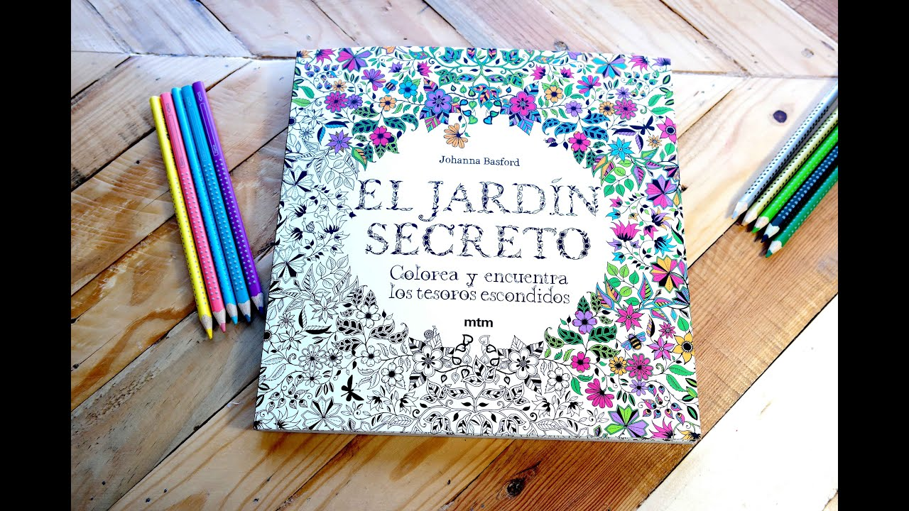 EL JARDÍN SECRETO, materiales para colorear - Mery - YouTube