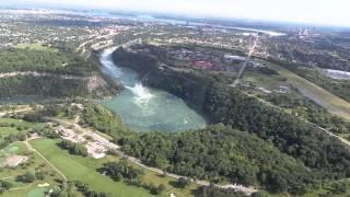Survol des chutes du NIAGARA