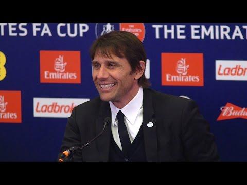 Chelsea 4-2 Tottenham - Antonio Conte Full Post Match Press Conference - FA Cup Semi-Final