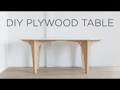 DIY Plywood table | Made from a single sheet of plywood