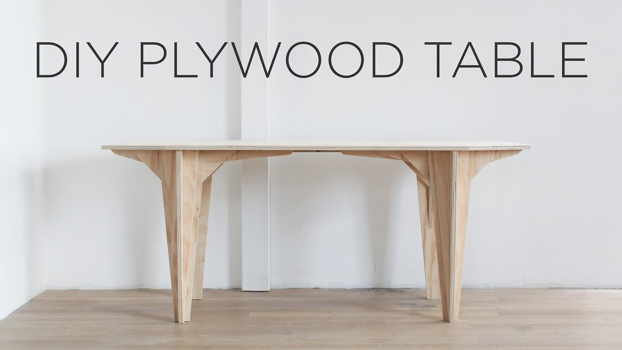Diy Plywood Table Made From A Single Sheet Of Plywood