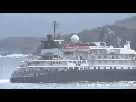 Cruise Ship ISLAND SKY arrives in A Coruña