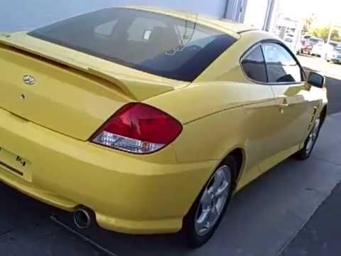 n7102a 2006 hyundai tiburon yellow youtube. Black Bedroom Furniture Sets. Home Design Ideas