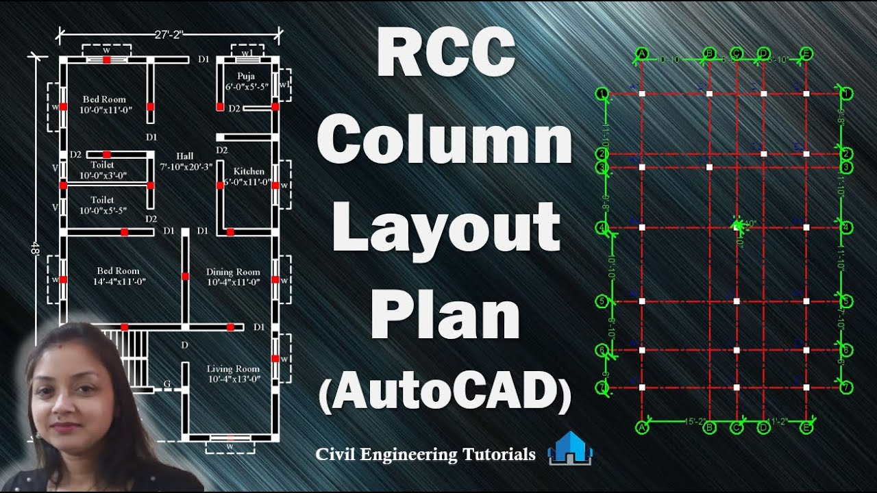 How to draw RCC Column Layout Plan in AutoCAD || Structural Drawing