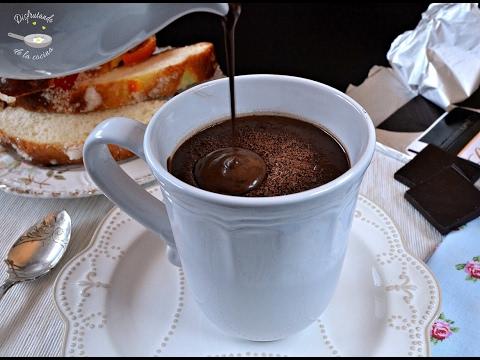 Cómo hacer chocolate a la taza al estilo italiano / cioccolata calda receta fácil y deliciosa