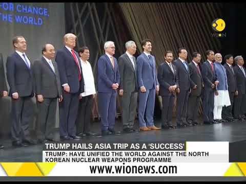 Donald Trump hails Asia trip as a 'success'