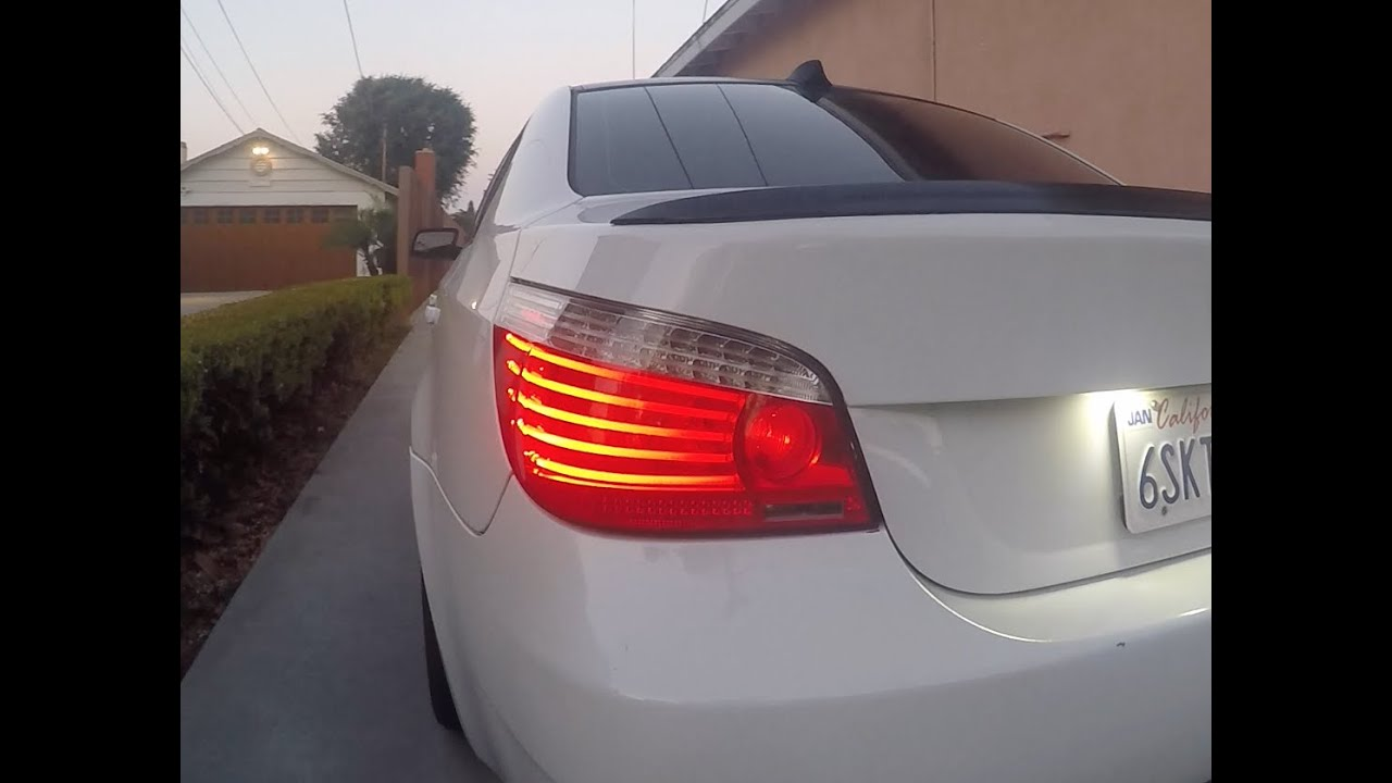 hight resolution of e60 bmw lci taillight retrofit