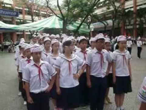 THCS Trần Quang Khải-Tân Phú, thi nghi thức đội cấp quận ,đội hình hàng dọc