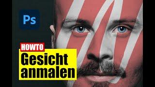Photoshop: Gesicht mit Logo/Flagge bemalen - Tutorial - deutsch/german