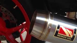 DUCATI Supersport WerkesUSA exhaust sound