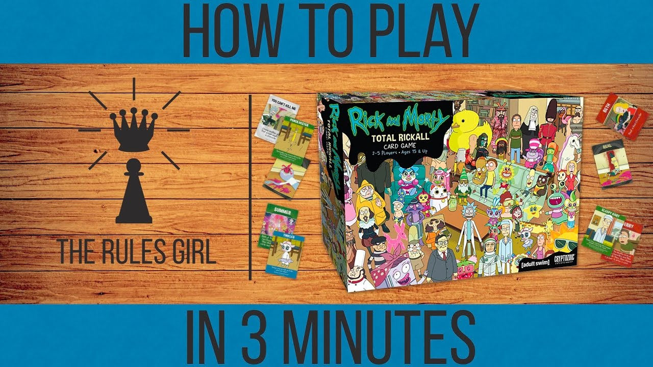 How to Play Rick and Morty Total Rickall in 3 Minutes - Part 1 (Standard  Mode) - The Rules Girl