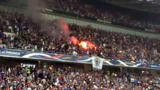 FRANCE - PARAGUAY A NICE  : ambiance entrée des joueurs !