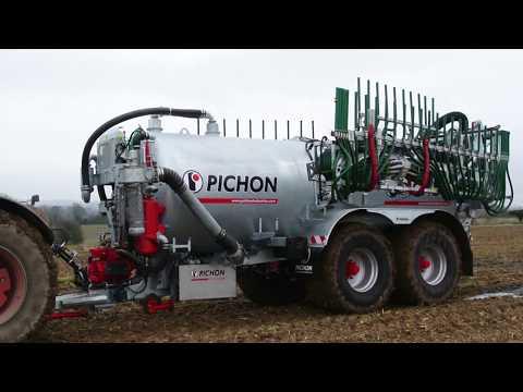 PICHON Slurry tanker TCI 22700 with Vogelsang 24 m dribble bar