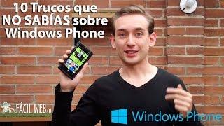 ¿Sabías estos 10 Tips de Windows Phone?  |  Facilweb.co
