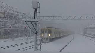 西武鉄道2419F+2007F 急行本川越行 雪の新所沢到着