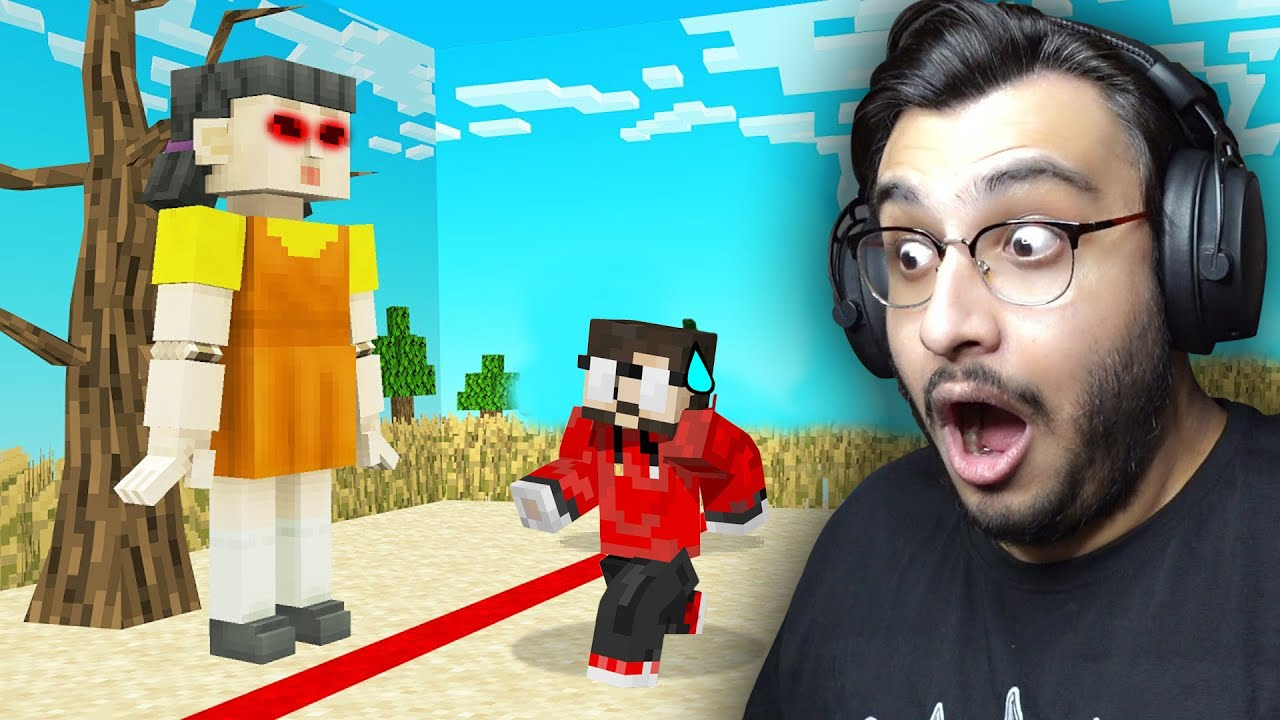 I PLAYED SQUID GAME IN MINECRAFT | RAWKNEE