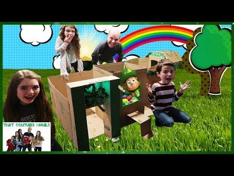 Leprechaun Billionaire Box Fort Mansion / That YouTub3 Family