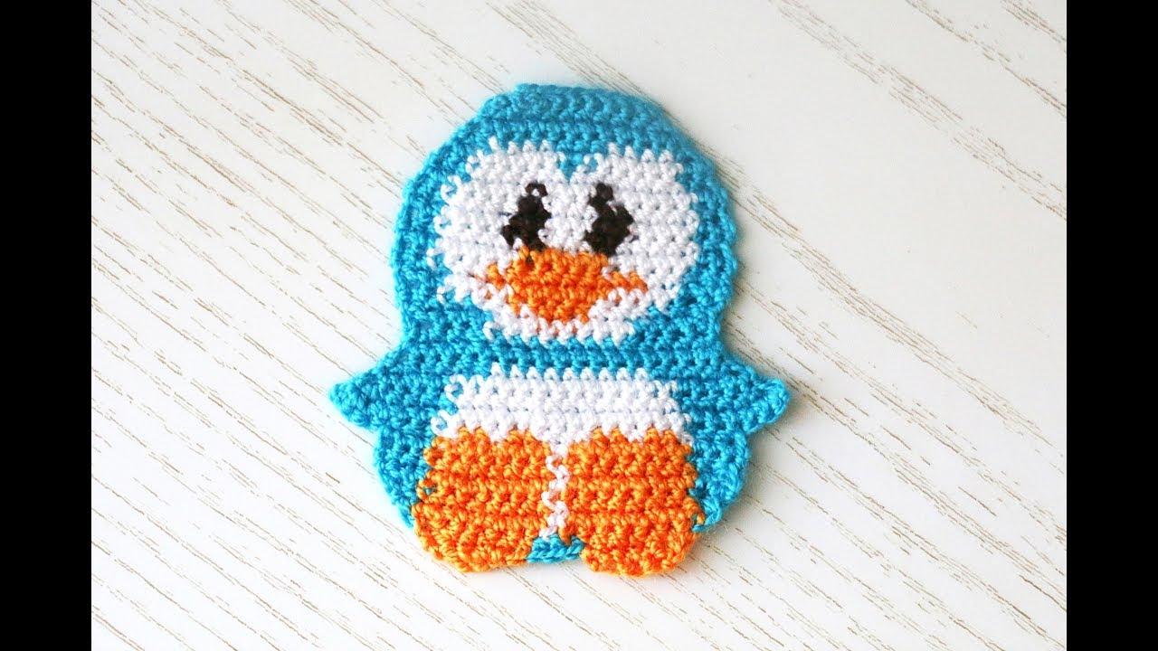 аппликация пингвин крючкомdiy Crochet Youtube