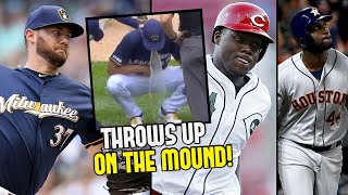 pitcher-throws-up-on-mound-strikes-out-10-2-rookies-make-mlb-history-mlb-recap
