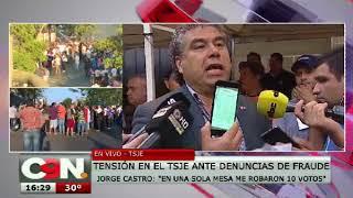 Jorge Castro: ''En una mesa me robaron 10 votos''
