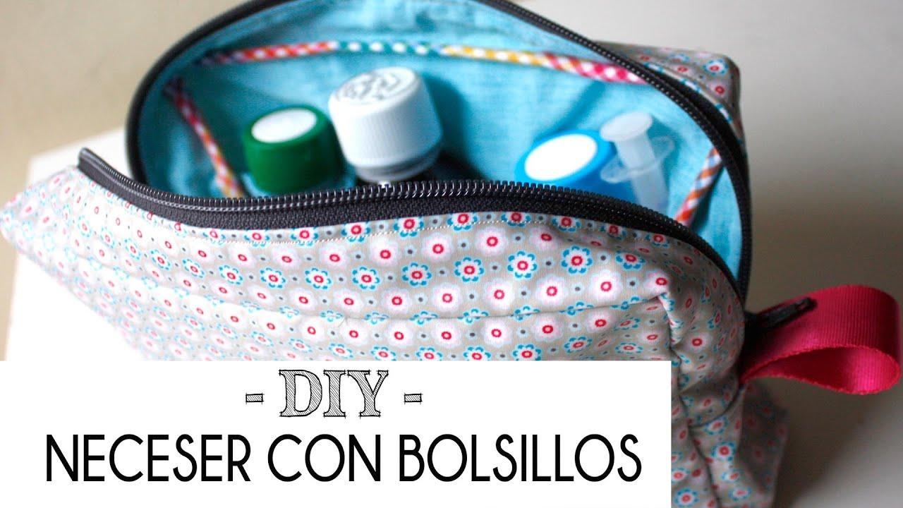 Tutorial como hacer un neceser con bolsillos patrones - Como coser cortinas paso a paso ...