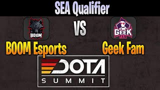 BOOM Esports vs Geek Fam | DOTA Summit 11 SEA Qualifier LIVE | NO COMMENTARY | Dota 2 Pro
