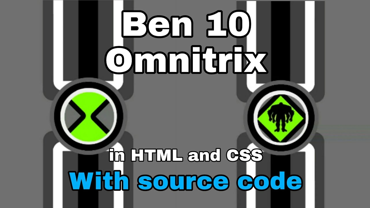 Ben 10 Omnitrix in HTML and CSS. Making with SEVEN.programmer