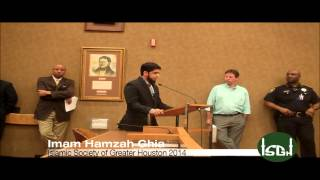 ISGH Imam offers opening invocation for the Harris County Commissioners Court