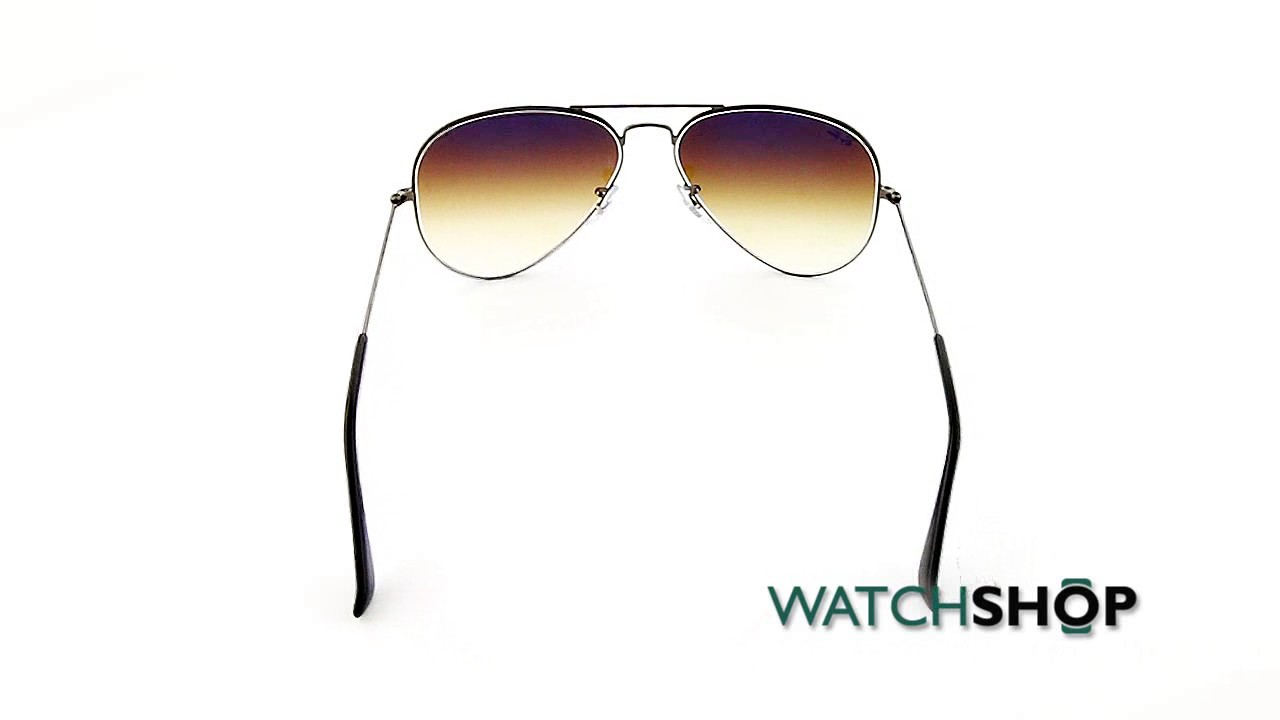 7d5119ae527 Ray-Ban Men s Aviator Gradient Sunglasses (RB3025-004 51-58) - YouTube