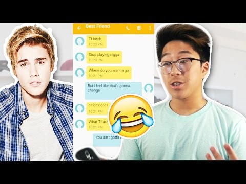 Pranking my Best Friend with Justin Bieber 'Company' Lyrics!