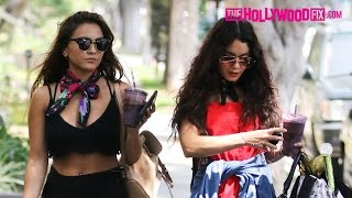 Vanessa & Stella Hudgens Grab Smoothies At Earth Bar Before Heading To A Friends House 5.13.16