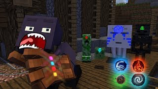 Monster School : ELEMENT BENDING CHALLENGE - Best Minecraft Animation