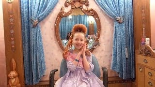 bibbity bobbity boutique makeover at disneyland princess kaylee with ariel hair