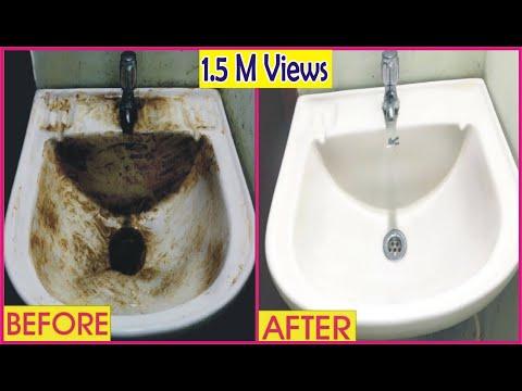 How to Clean Bathroom Sink In Urdu | sink ko saf kirna ka tariqa | Golden Hacks