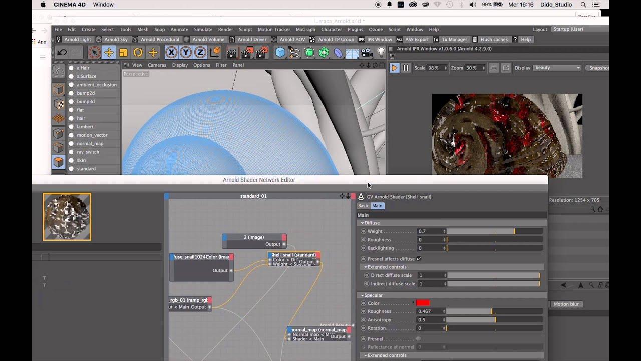 Cinema 4D - Arnold Render Tutorial Complex Shader