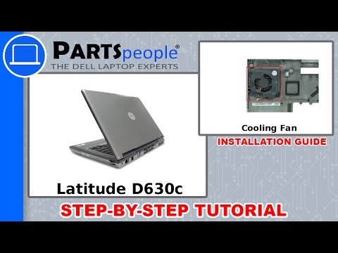 Dell Latitude D630 Fan Removal and Installation