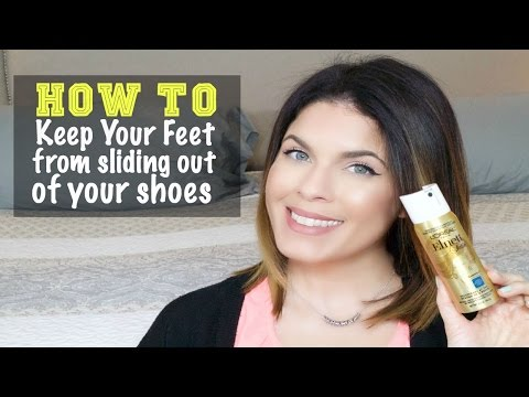 how-to-keep-feet-from-sliding-out-of-shoes-|-quick-tip-|-updated