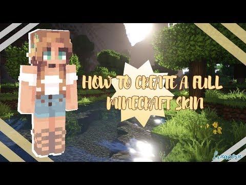 FULL Female Minecraft Skin Tutorial!