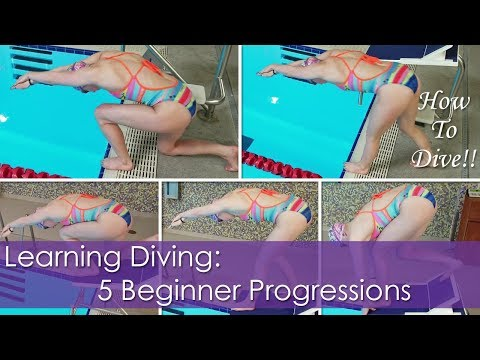 Learning Diving: 5 Beginner Progressions to Learn How to Dive!!