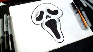 Cómo dibujar Rostro de Scream | ZäXx