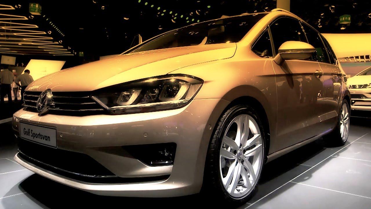 2014 VW Sportwagen Tdi Review - Sportsvan Concept Interior and Exterior  Walkaround