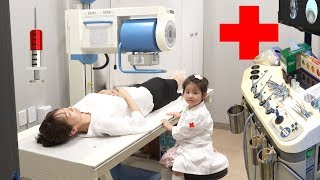 의사선생님 배가 아파요!! 서은이의 재밌는 영상 모음 병원놀이 전동자동차 초콜렛 자판기 Special Video Collection