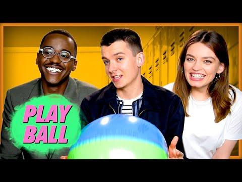 Sex Education Stars Play Ball | Asa Butterfield, Emma Mackey, Ncuti Gatwa