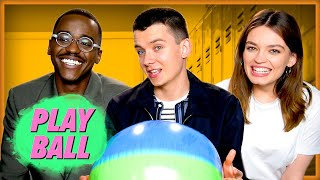 Sex Education Stars Play Ball | Asa Butterfield, Emma Mackey, Ncuti Gatwa