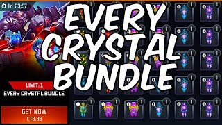 EVERY CRYSTAL BUNDLE! CRYSTAL OPENING! - TRANSFORMERS : Forged To Fight