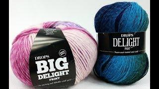 Kilka słów na temat...włóczki Drops Delight i Drops Big Delight