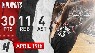 Pascal Siakam Full Game 3 Highlights Raptors vs Magic 2019 NBA Playoffs - 30 Pts, 11 Reb, 4 Ast!