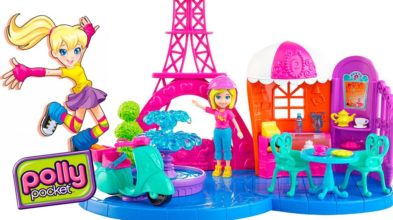 Boneca Polly Pocket F 233 Rias Em Paris Playset Review Em