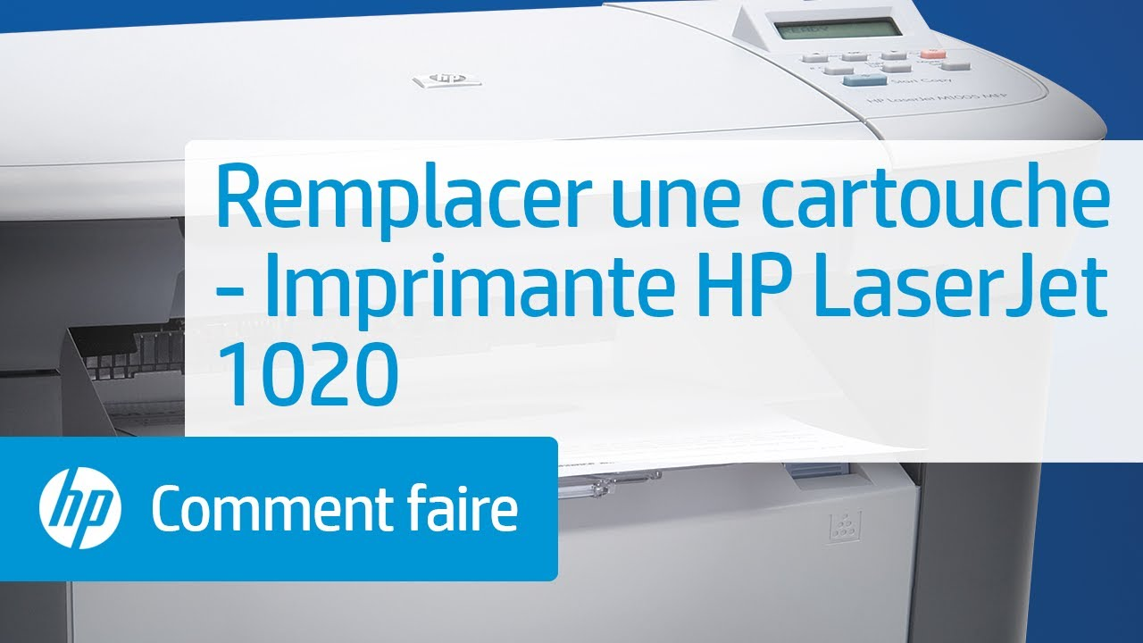 remplacer une cartouche imprimante hp laserjet 1020 youtube. Black Bedroom Furniture Sets. Home Design Ideas