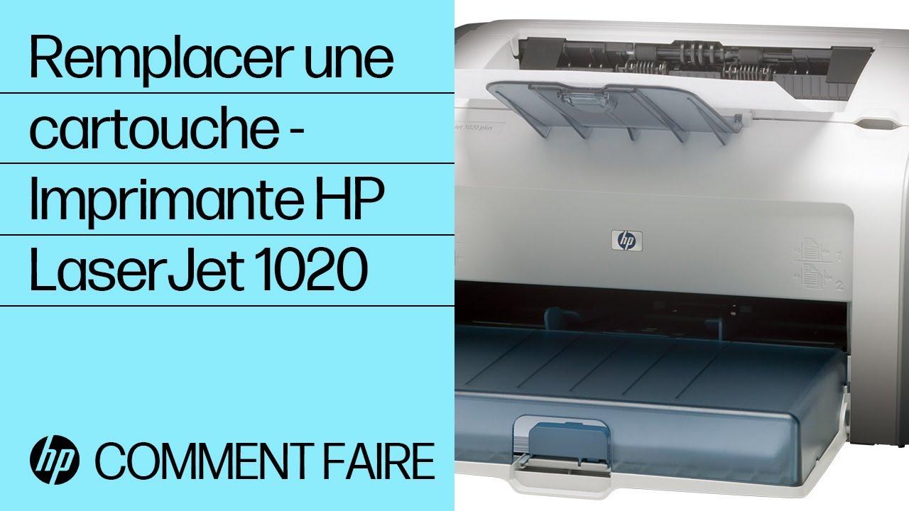 Remplacer Une Cartouche Imprimante Hp Laserjet 1020